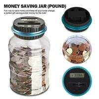 Electronic Digital LCD Counting Coins Saving Pot Money Boxes Showing Piggy Bank