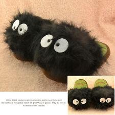 "My Neighbour Black Totoro Dust Bunny 11"" Adult Plush Slipper Free Size GIFT"