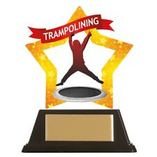 Trampolining Trophies Acrylic Star Trampoline Trophy 100mm high FREE Engraving