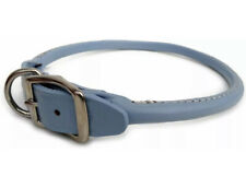 """New listing Nwt Quality Auburn Leathercrafters Round Rolled Dog Collar 23-26"""" Baby Blue"""