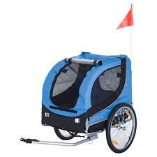 HomCom Remorque à Vélo avec 8 Reflecteurs pour Chiens Jusqu'à 20kg - Bleu/Noir (6932185953038)