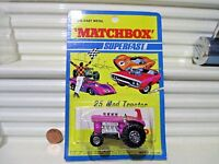 LESNEY MATCHBOX MB25B Purple MOD TRACTOR RED SEAT Maltese Cross Whls V Fenders