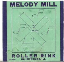 Vtg 1940s Melody Mill Roller Rink Skating Skate North Riverside Illinois Il