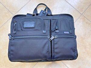 Tumi Alpha Expandable Organizer Laptop Brief - Black