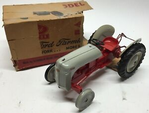 Vtg Antique Rare Aluminum Model Toy Company Ford Tractor 8N w/Box