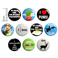 Funny Pun Buttons Silly Food Puns Animal Puns Weird Pins 10 Pack 1 Inch 10P11-1