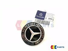 NEW GENUINE MERCEDES BENZ BONNET WREATH STAR EMBLEM STAR BADGE BLACK A0008171801