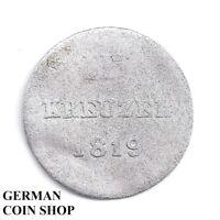 3 Kreuzer 1819 - Herzogtum Nassau - Silber