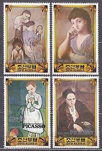 KOREA Pn. 1982 MNH** SC#2145/48 set, Pablo Picasso (1881-1973), Painter,
