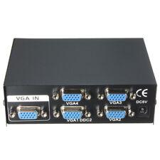 4 PORT VGA SVGA MONITOR SHARING SWITCH BOX VIDEO SPLITTER 60CM USB CABLE