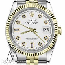 Women's Rolex 26mm Datejust 18K SS White Color 8+2 Diamond Accent Dial Watch