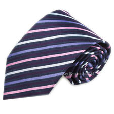 Mens Fashion Wedding Tie Slim Type Neckties Purple Pink White Striped Ties Men