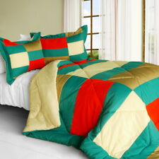 [Joy Jungle] Quilted Patchwork Down Alternative Comforter Set (Twin Size)