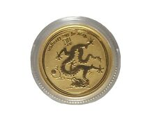 2012 Gold 1/10 oz Australia Series Lunar Dragon .9999 Fine gold Coin
