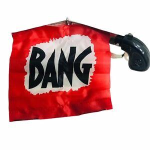 BANG FLAG GUN  Gag Prank Famous Funny Joke Prank Party Comedy Pistol Gun Fun