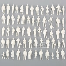 100 Model Train People Passengers Figures Set 1:100 HO Scale White