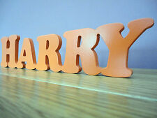 Wooden Words/Letters Free Standing Personalised Names Wedding/Home/Gift