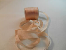 7 mm 100%  Silk  Ribbon  / Oyster