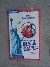 1996 Broderbund Software Where in the USA is Carmen Sandiego ACME Agent Manual R