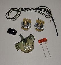 Telecaster Guitar Wiring Kit CTS 250K Solid Shaft Pots Orange Drop .047uf Cap