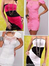 SUMMER MINI DRESS LADIES STRAPLESS CLUBWEAR WOMEN CLUBBING STRIPPER 8-10