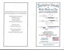 Starfighter Class IX Starship Mrkgs, 1/1000, AMT Polar Light Kit Decals SFA 100