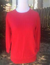 NWT J.Crew Merino Wool Red Charlie Like Tippi Sweater Small S