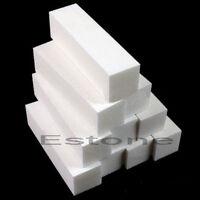 5PCs Nail Art Buffer File Block Pedicure Manicure Buffing Sanding Polish White