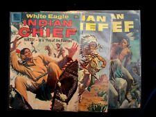 Vintage 1953-56-58 Dell Pub'l INDIAN CHIEF WHITE EAGLE comic book LOT of 3