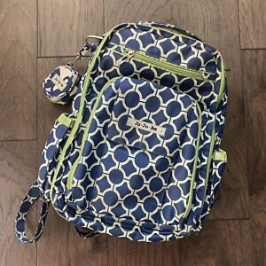 JuJuBe Classic Collection Be Right Back Backpack Diaper Bag Royal Envy Paci Pod