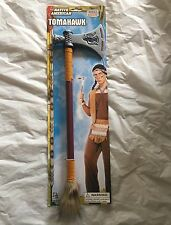 NATIVE AMERICAN INDIAN WESTERN PLASTIC TOY TOMAHAWK FANCY DRESS COSTUME PROP