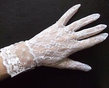 Gloves WOMENS Vintage Retro 1980s LACEY NET SHORT STYLE