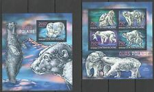 QF118 2013 CENTRAL AFRICA POLAR FAUNA WHITE BEARS LES OURS POLAIRES KB+BL MNH