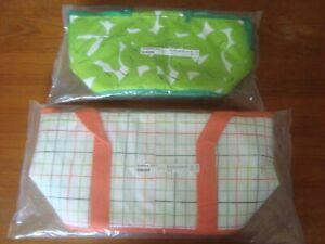 IKEA Soft Cooler Bag SOMMAR Summer Picnic Lunch Bag Box Pear Check Green Orange