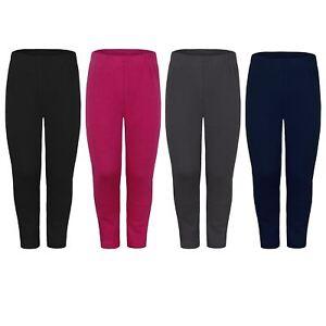 Kids Warm Leggings Faux Fur Lined Girls Soft Winter Casual Bottoms Sizes 1-16Y
