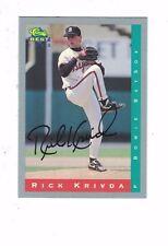 1993 Bowie Baysox Rick Krivda Baltimore Orioles Authentic Autograph COA