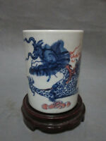 CHINESE OLD MARKED SWEET WHITE CARVED DRAGON AND PHOENIX THIN PORCELAIN TEA CUP