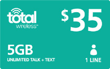 Total Wireless Preloaded $35 plan Sim card activation prepaid (Bring ur Simcard)