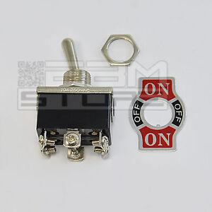 interruttore 6A ON-OFF-ON 2 vie a levetta da pannello deviatore leva -ART. HH05