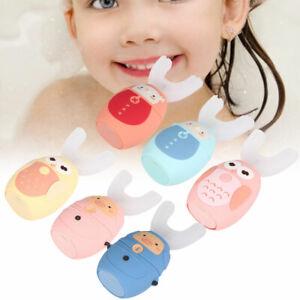 Children Kid Automatic Electric Toothbrush U-Shape Teeth Whitening Brush