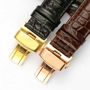 20mm Leather Watch Band Strap With Clasp Made For OMEGA SPEEDMASTER MOONWATCH