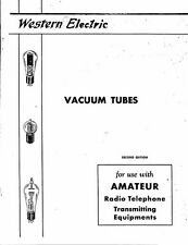 WESTERN ELECTRIC TUBES AMATEUR RADIO TELEPHONE TRANSMITTING EQUIPMENT 1933 PDF