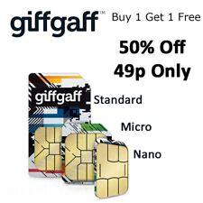 Giff gaff pay as you go sim card giffgaff Triple Cut Standard Micro & Nano Sim