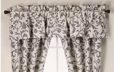 New WEDGWOOD of England Black & White ACANTHUS COLLECTION WINDOW VALANCE