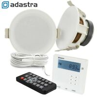 Wall USB SD Bluetooth Amplifier with FM Radio 2x 3 Inch Ceiling Speaker Kit
