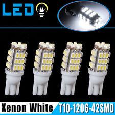 4X T10 White Car 42-smd Backup Reverse LED Light Bulb W5W X7