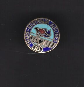 TAA, Transaustralian Airlines 10 years  employees badge