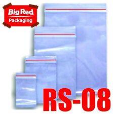 1000 x Resealable Zip Lock Plastic Bags 75mm x 125mm