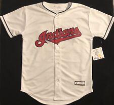 Cleveland Indians -Francisco Lindor Jersey- Youth Medium - White - Majestic- NWT