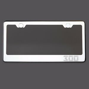 Mirror Chrome License Plate Frame 300 Laser Engraved Metal Screw Cap